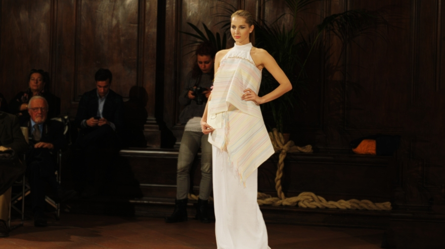 evening gown designed for Giuliacarla Cecchi